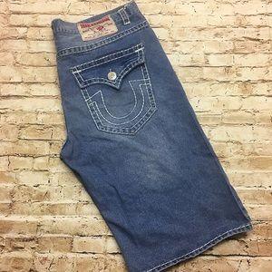 Men's True Religion Joey Super T Denim Shorts 42